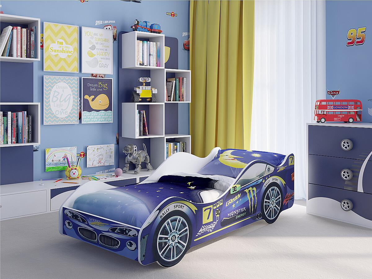 Купить детскую кровать машину