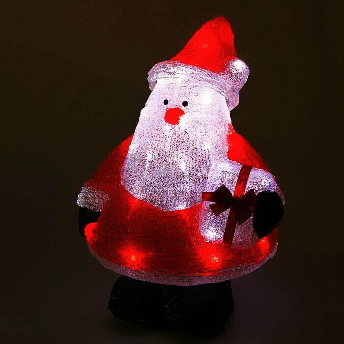 Акриловая Новогодняя светодиодная фигура Дед Мороз 25см