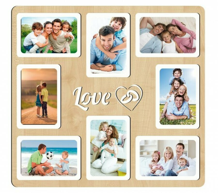 Фоторамка-коллаж Love