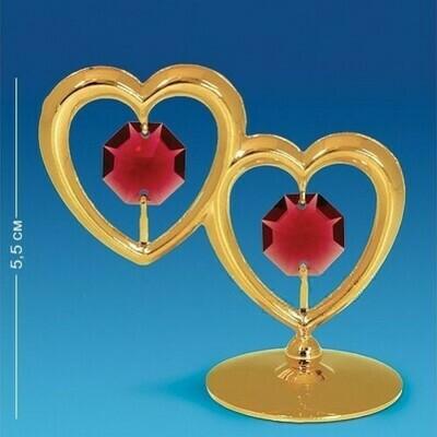 Фигурка Два сердца на подставке