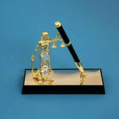 Фигурка Ручка на подставке с фемидой
