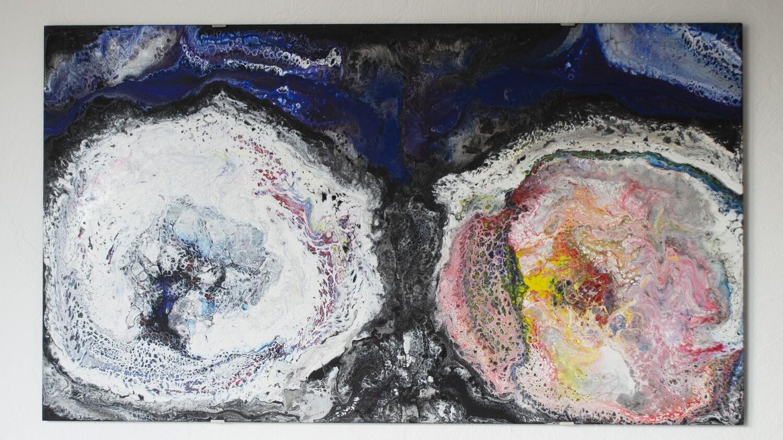Картина акрилом абстракция