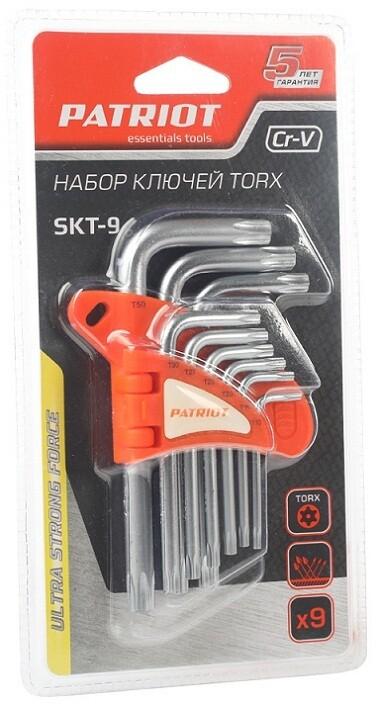 """Набор ключей PATRIOT SKT-9 """"Torx"""" 9 шт. Т10-Т50"""