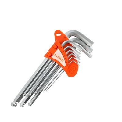 Набор ключей PATRIOT SKH-9L, шестигранные с шаром, длинные, 1,5-10мм, CRV, 9 шт