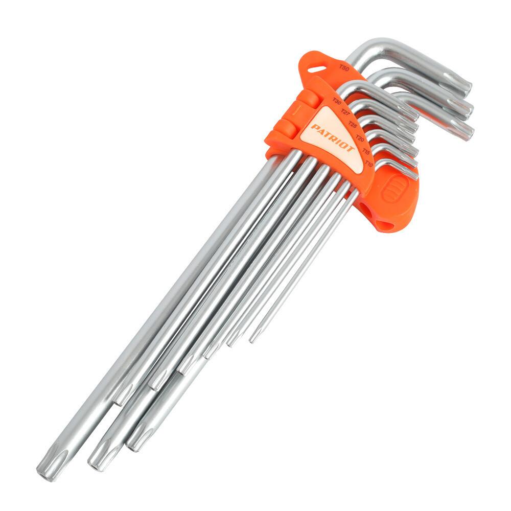 Набор ключей PATRIOT SKТ-9EL, TORX, экстра длинные, T10-T50, CRV, 9 шт