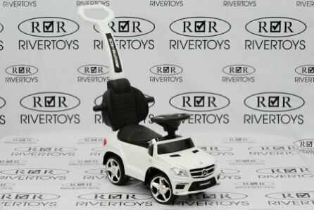 Детский толокар с ручкой RiverToys Mercedes-Benz GL63 A888AA-M (лицензионная модель)