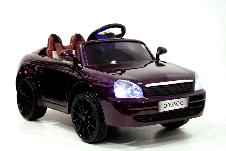 Детский электромобиль RiverToys Lada Priora O095OO с кож. сиденьем
