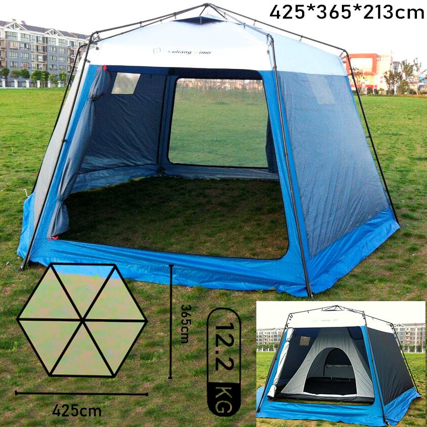 Палатка тент из стального каркаса Четырехместная