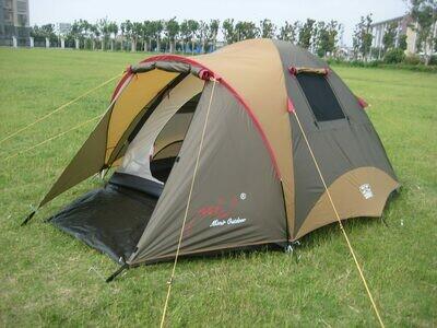 Палатка с залом Трехместная