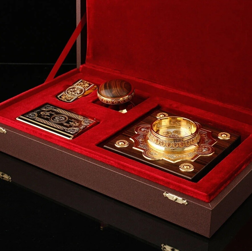 Подарочный набор Печать, визитница и зажим