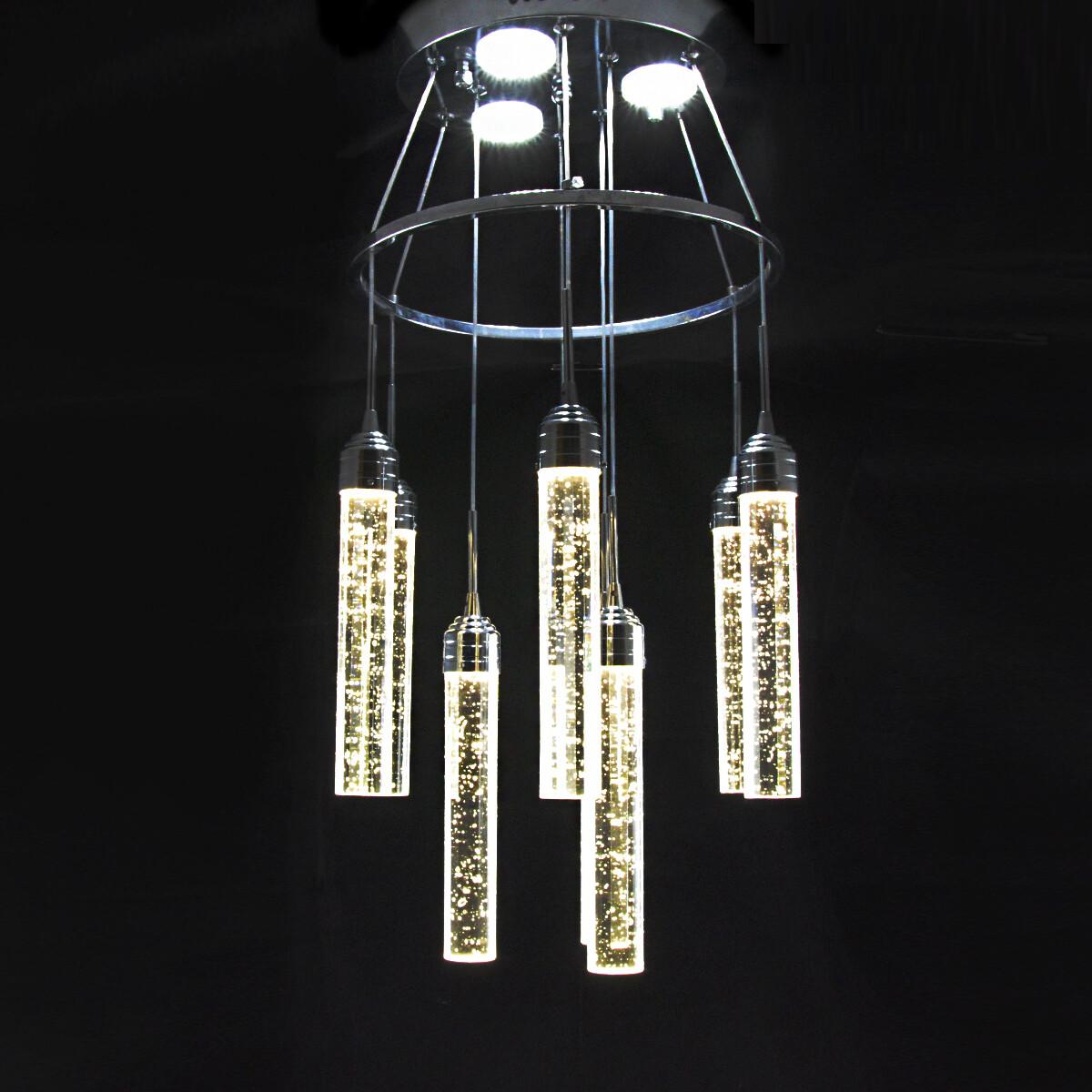 Светодиодная люстра, 9 плафонов