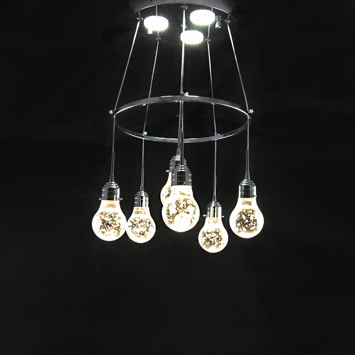 Светодиодная люстра, 6 плафонов