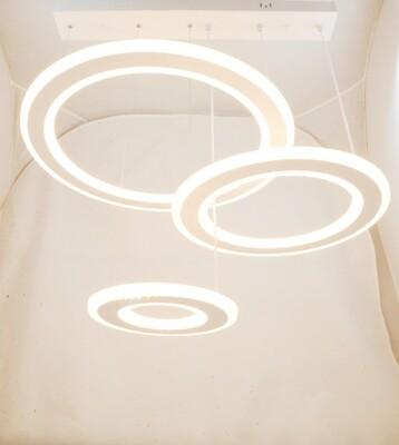 Светодиодная люстра, 3 кольца