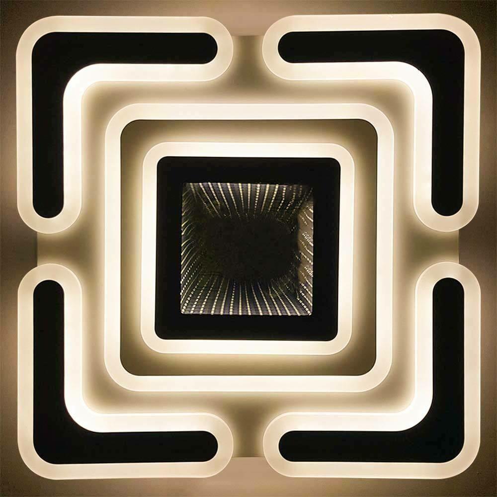 Светодиодная акриловая люстра с 3D эффектом