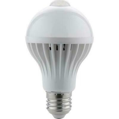 LED лампа с датчиком движения, с цоколем Е27