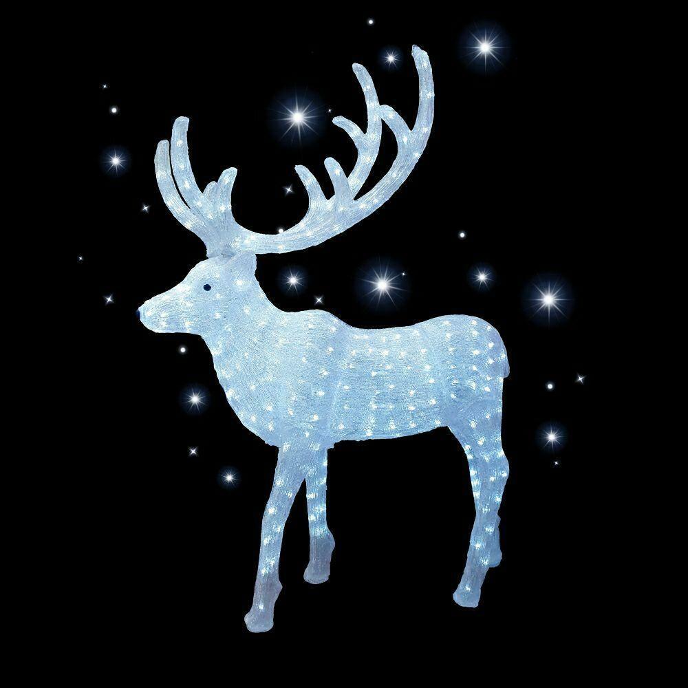 Акриловая светодиодная фигура Северный олень