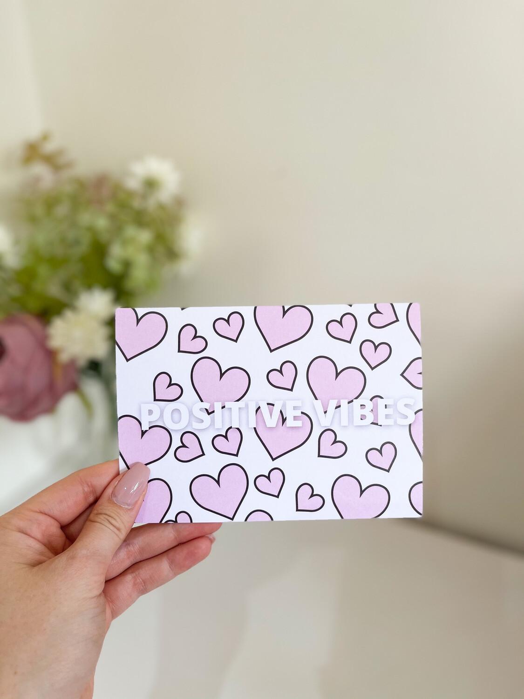Positive Vibes Affirmation Card