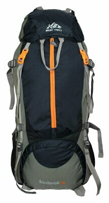 Mount Track 80 Ltrs Rucksack, Hiking & Trekking Backpack Black