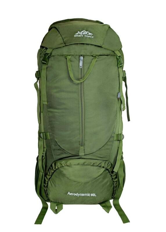 Mount Track 80 Ltrs Rucksack, Hiking & Trekking Backpack Black