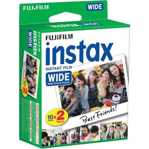 FUJI Instax Color-Film Instax Wide - Doppelpack 2x 10 Aufnahmen für Instax 300 und 210