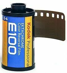 Kodak E100G 135-36 Ektachrome Professional Color Slide (Transparency) Film (ISO-100) Inclusive development without framing - expired 05/2022