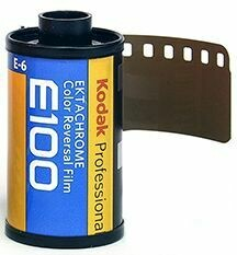 Kodak E100G 135-36 Ektachrome Professional Color Slide (Transparency) Film (ISO-100) expired 08/2021