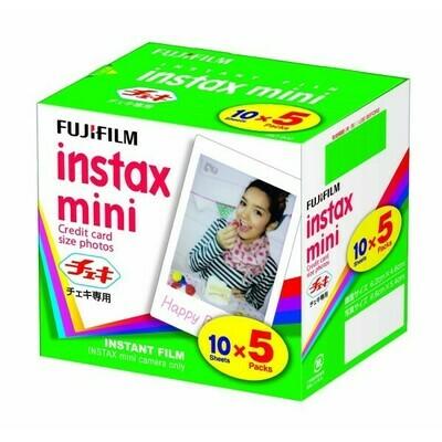 Fuji INSTAX Mini Color Film, picture size 6,2x4,6 cm 5 films for 50 pictures