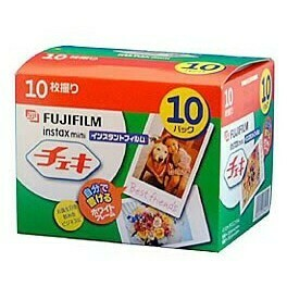 Fuji INSTAX Mini Color Film, Bildformat von 6,2x4,6 cm Tenpack