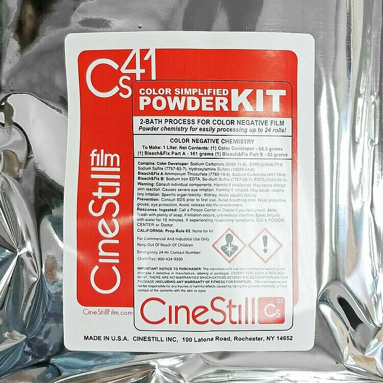 CINESTILL CS41 Color Simplified Quart Kit Powder