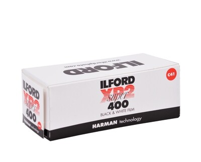 Ilford XP2 Super 120 Black & White (Chromogenic C-41) Print Film (ISO-400) expired 02/2022