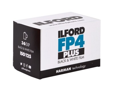 Ilford FP4 Plus 135-36 Black & White Negative (Print) Film (ISO-125)  expired 06/2024