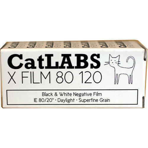 CatLABS X FILM ISO 80 Schwarz-Weiss, 120 Rolfilm MHD 10/2021
