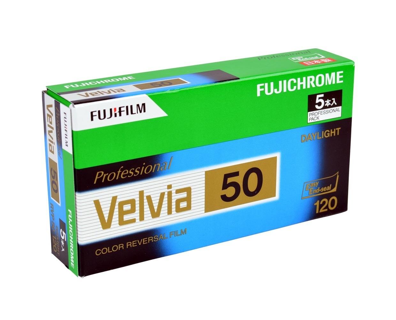 FUJIFILM Velvia 50 RVP, Format 120 Rollfilm NEU MHD 08/2020