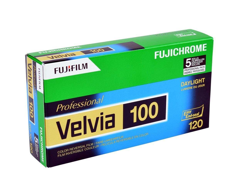 FUJIFILM VELVIA 100F Format 120 5-Pack (16326107) Expired 08/2021