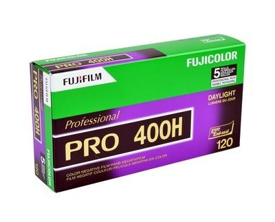 Fujifilm Pro 400H 120 Fujicolor Professional Color Negative (Print) Film (ISO 400) - Pro Pack - 5 Rolls expired 03/2022