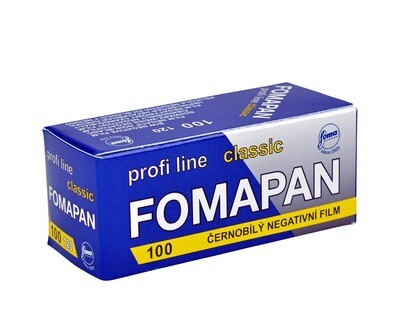 Fomapan 100 Classic Black and White Negative Film (120 Roll Film) expired 02/2022