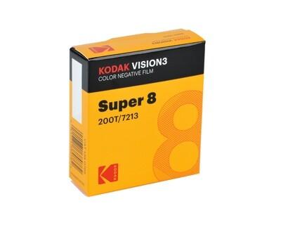 Kodak VISION3 200T Color Negative Film 7213 Casette Super 8 - 15 meter)