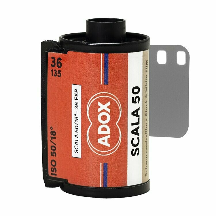 Adox SCALA 50 Black and White Slide Film (35mm Roll Film, 36 Exposures - expired 09/2021