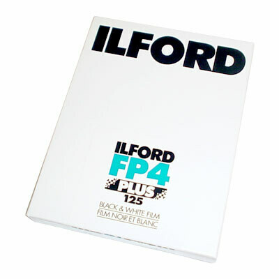 "Ilford FP4 Plus 4x5"" 25 Sheets Black & White Negative (Print) Film (ISO-125) date 06/2023"