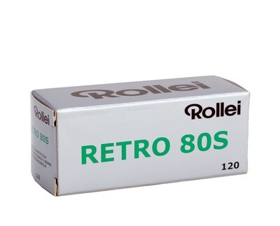 Rollei Retro 80S Black and White Negative Film (120 Roll Film) date 01/2022