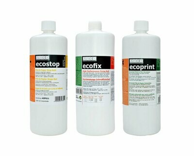 Eco kit - universal processing chemistry 3x 1liter