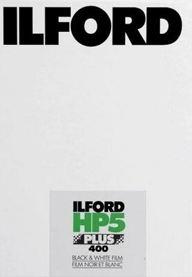 Ilford HP5 PLUS 5x7inch / 12,7x17,8cm Black & White Print Film (25 Sheets) expired 06/2021