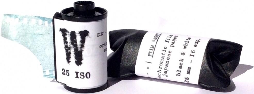 "WASHI ""W"" 25 135-16 orthochromatic black & white film"