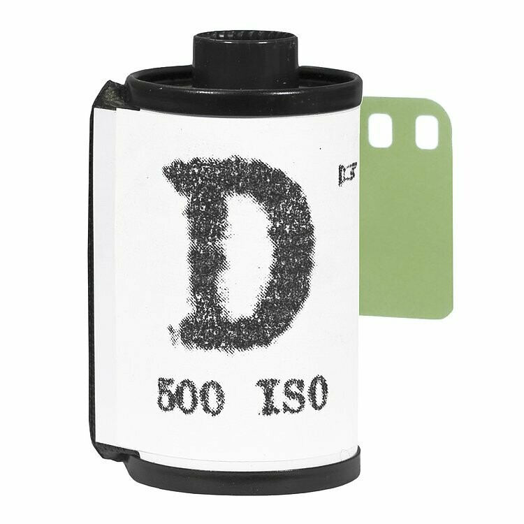 "WASHI ""D"" 500 135-36 panchromatic negative film"