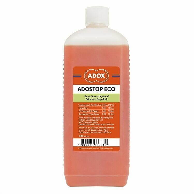 ADOX ADOSTOP ECO Geruchloses Stoppbad mit Indikator 1000 ml Konzentrat
