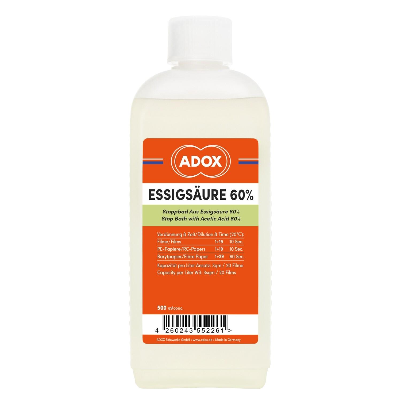 ADOX universal stop bath 500 Milliliter Bottle.