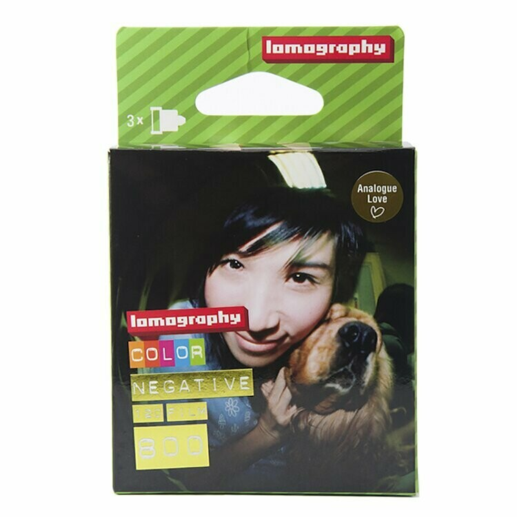 Lomography 800 Color Negative Film (35mm Roll Film, 36 Exposures, 3 Pack) date 09/2022