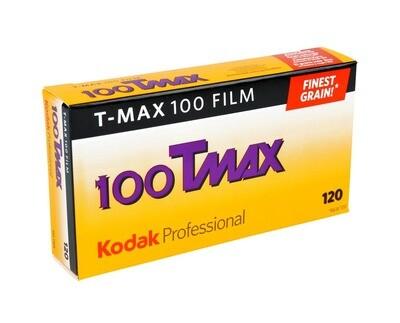 Kodak T-Max 100 Professional Black & White Negative (Print) Film (ISO-100) Format 120 - Pro Pak (5 Rolls)  expired 10/2021