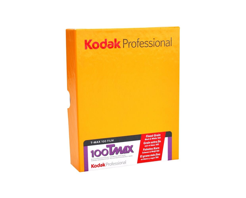 "Kodak T-Max 100 Planfilm 10,2x12,7cm (4x5"") 10 sheets expired 04/2021"