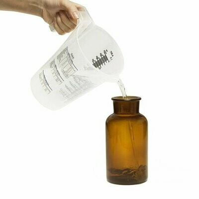Peva Apothekerflasche Glas (Weithals) braun 500 ml - 2 Stück verfügbar ab ca. 10.05.2020